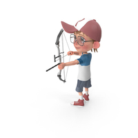 Cartoon Boy Harry Using Bow PNG & PSD Images