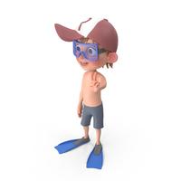 Cartoon Boy Harry in Swim Suit PNG & PSD Images