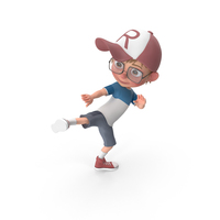 Cartoon Boy Harry Learning Martial Arts PNG & PSD Images