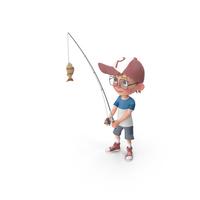 Cartoon Boy Harry Fishing PNG & PSD Images