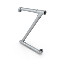 Galvanized Pipe Letter Z PNG & PSD Images