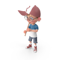 Cartoon Boy Harry Playing Flute PNG & PSD Images