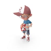 Cartoon Boy Harry Playing Guitar PNG & PSD Images