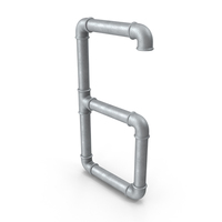 Galvanized Steel Pipe Number 6 PNG & PSD Images
