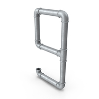 Galvanized Steel Pipe Number 9 PNG & PSD Images