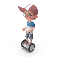 Cartoon Boy Harry Riding Scooter PNG & PSD Images