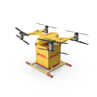 DHL Express Drone PNG & PSD Images