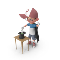Cartoon Boy Harry Performing A Hat Trick PNG & PSD Images