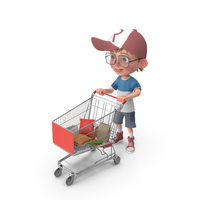 Cartoon Boy Harry Shopping PNG & PSD Images