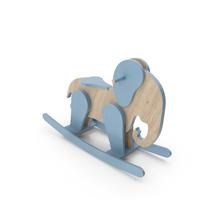 Blue Elephant Rocking Horse PNG & PSD Images