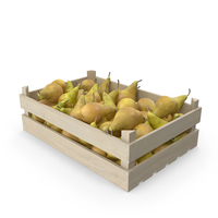 Wooden Conference Pear Crate PNG & PSD Images