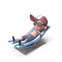 Cartoon Boy Harry Sunbathing PNG & PSD Images