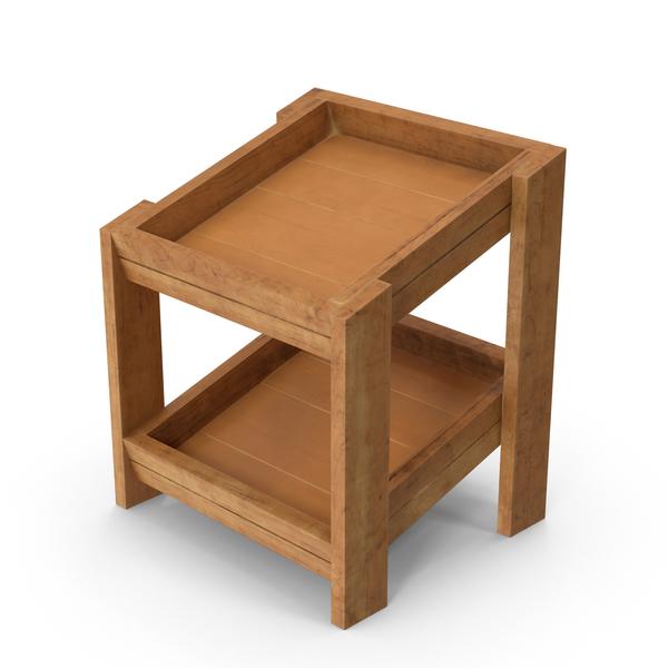 Wooden Merchandise Shelf PNG & PSD Images