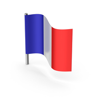 France Cartoon Flag PNG & PSD Images