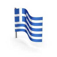 Greece Cartoon Flag PNG & PSD Images