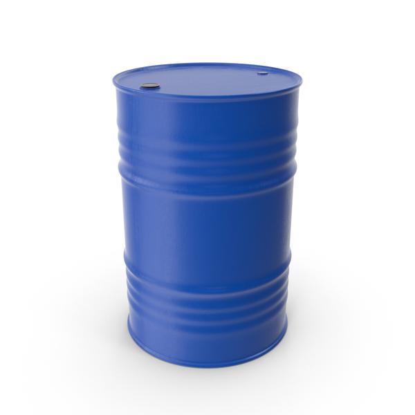 Oil Drum Blue PNG & PSD Images