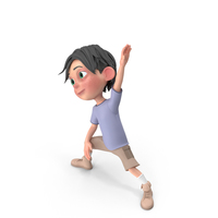 Cartoon Boy Jack Doing Aerobics PNG & PSD Images