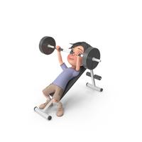 Cartoon Boy Jack Lifting Barbell PNG & PSD Images