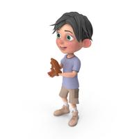 Cartoon Boy Jack Playing Baseball PNG & PSD Images