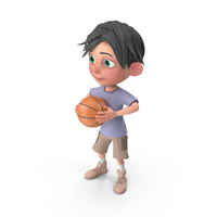 Cartoon Boy Jack Playing Basketball PNG & PSD Images