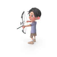 Cartoon Boy Jack Using A Bow PNG & PSD Images