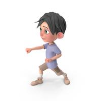 Cartoon Boy Jack Punching PNG & PSD Images