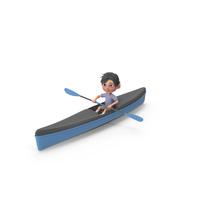 Cartoon Boy Jack Kayaking PNG & PSD Images