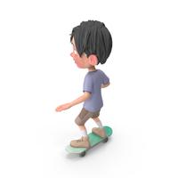 Cartoon Boy Jack Riding Skateboard PNG & PSD Images