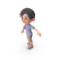 Cartoon Boy Jack Skating PNG & PSD Images