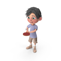 Cartoon Boy Jack Playing Table Tennis PNG & PSD Images