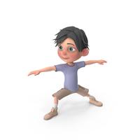 Cartoon Boy Jack Doing Yoga PNG & PSD Images