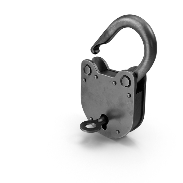 Padlock with Key Open PNG & PSD Images