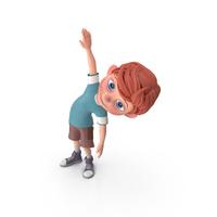 Cartoon Boy Charlie Doing Aerobics PNG & PSD Images