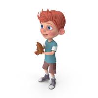 Cartoon Boy Charlie Playing Baseball PNG & PSD Images