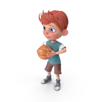Cartoon Boy Charlie Playing Basketball PNG & PSD Images