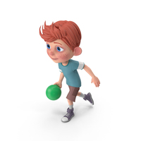 Cartoon Boy Charlie Bowling PNG & PSD Images