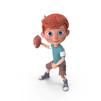Cartoon Boy Charlie Playing Football PNG & PSD Images