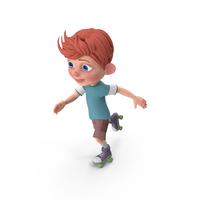 Cartoon Boy Charlie Skating PNG & PSD Images