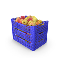Plastic Crates of Apples PNG & PSD Images