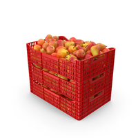 Plastic Crates with Pear Red PNG & PSD Images