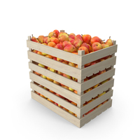 Wooden Crates with Pears Red PNG & PSD Images