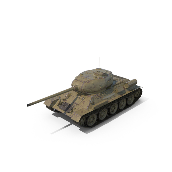 T-34-85 Tank PNG & PSD Images