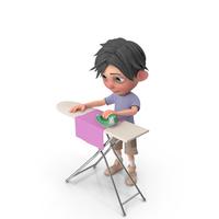 Cartoon Boy Jack Ironing PNG & PSD Images