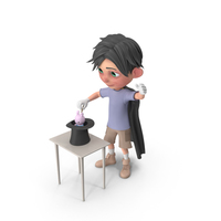 Cartoon Boy Jack Performing A Hat Trick PNG & PSD Images