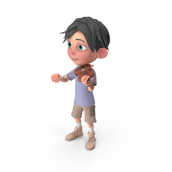 Cartoon Boy Jack Playing Violin PNG & PSD Images
