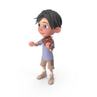 Cartoon Boy Jack Playing Violin PNG & PSD Images