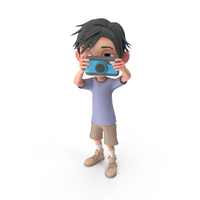 Cartoon Boy Jack Taking A Photo PNG & PSD Images
