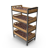 Shelf With Purple Potatoes PNG & PSD Images