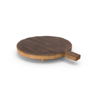 Round Wooden Cutting Board PNG & PSD Images