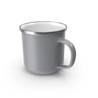 Large Light Grey Enamel Mug PNG & PSD Images